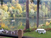 View of the McKenzie River from the main house