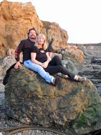 Dave and Christine at Glass Beach in Fort Bragg